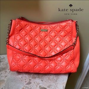 Great Condition - Kate Spade -Orange Quilted Purse